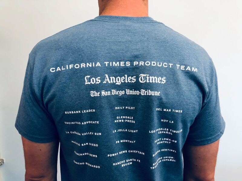 California Times Product Team t-shirt