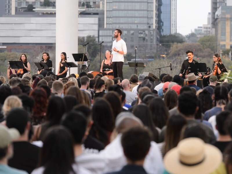 Michelob ULTRA Pure Gold and The Big Quiet Team Host Pure Golden Hour, SXSW's First-Ever Sunset Mass Meditation