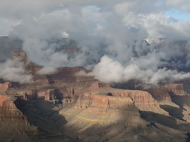 Inversion Clouds Form in the Grand Canyon