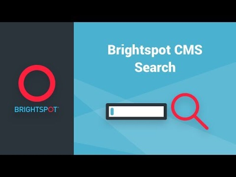 Brightspot CMS Search