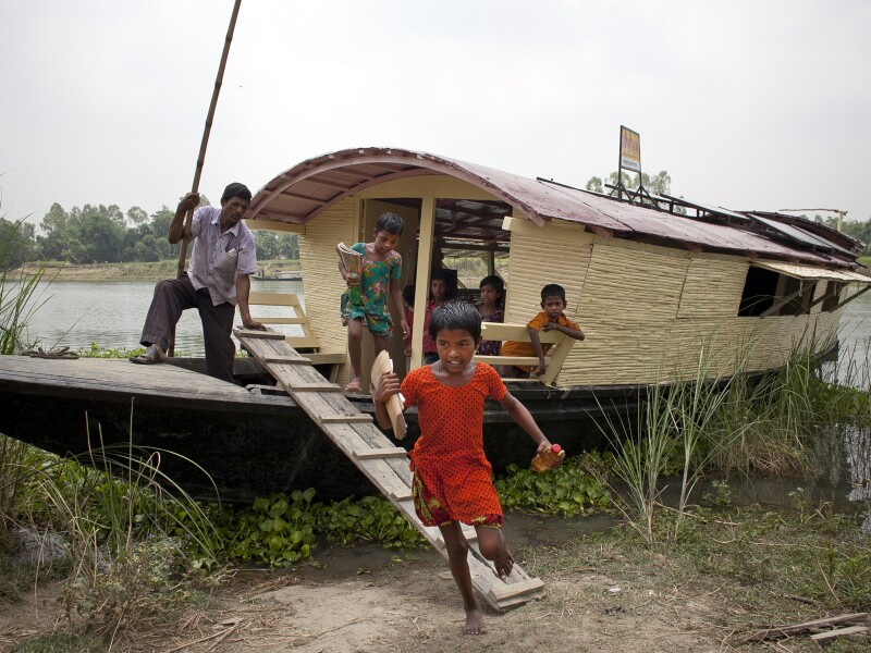 A Floating School & Hospital Supports Remote Communities In Bangladesh